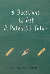 5  Questions to Ask a Potential Tutor