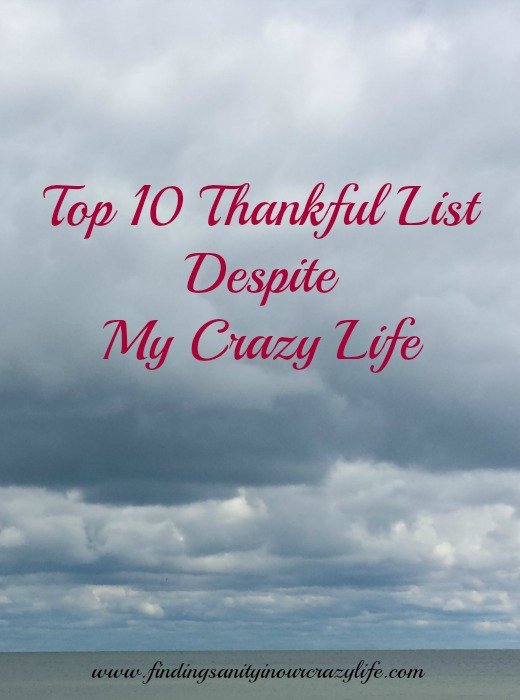 Top 10 Thankful List