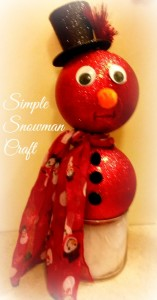 Simple Snowman Craft: Ornament Snowman
