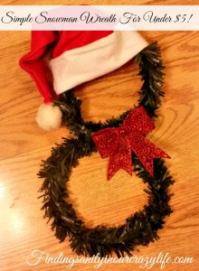 Simple Snowman Wreath For Under $5!