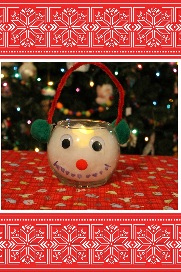 Snowman Candle Holder 2