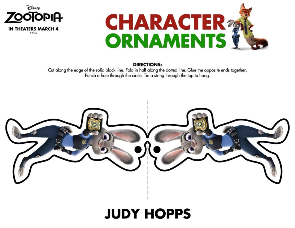 Zootopia Character Ornaments-page-001
