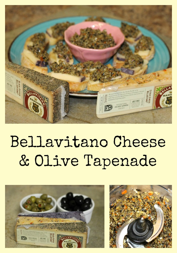 Bellavitano Cheese and Olive Tapenade Recipe Collage
