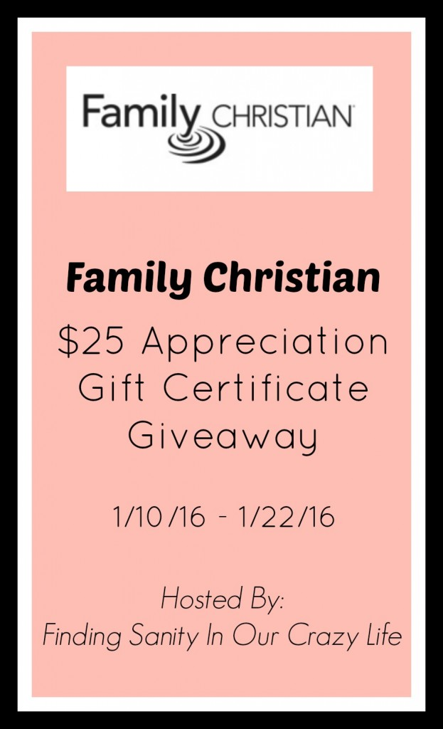 Family Christian Gift Certificate Giveaway