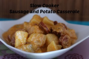 Sausage and Potato Casserole cooked in the slow cooker.