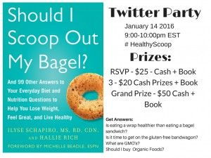 Should I Scoop Out My Bagel Twitter Party and Giveaway