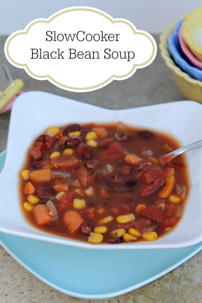 Vegetarian Slow Cooker Black Bean Soup | Finding Sanity in Our Crazy ...