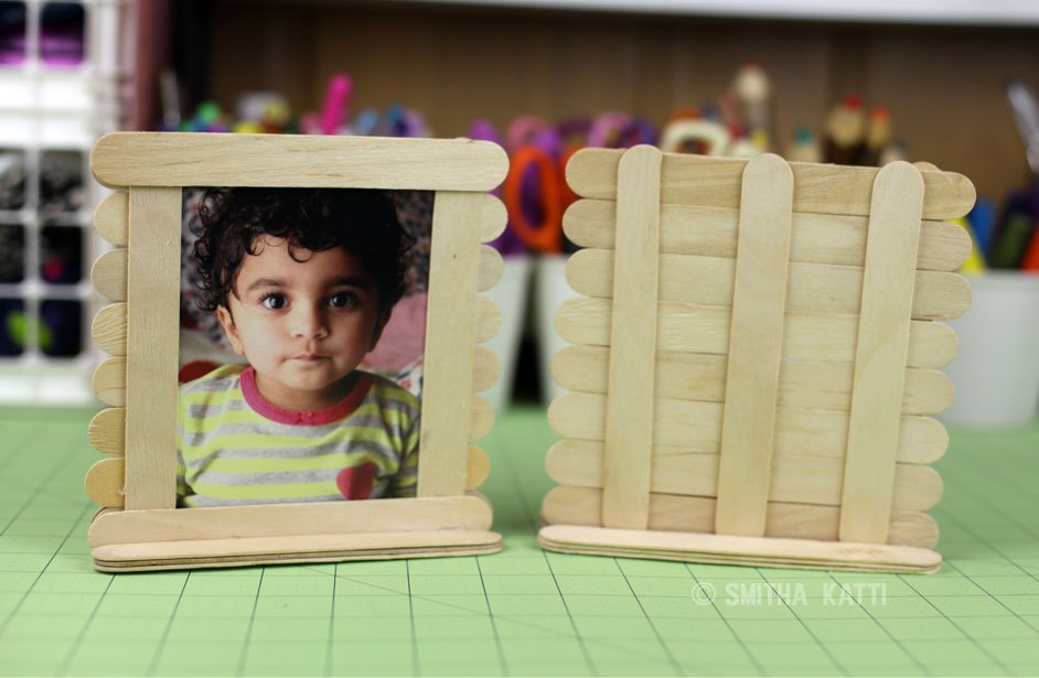 Popsicle craft stick projects for kids finding sanity in for Popsicle picture frame crafts