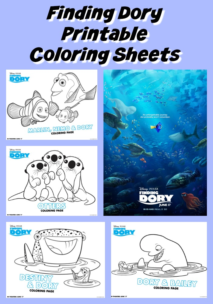 Finding Dory Printable Coloring Sheets