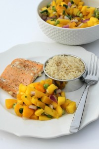 Oven Baked Salmon With Mango Salsa