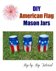DIY American Flag Mason Jars (12 Days of Summer)