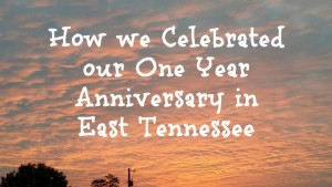 How we Celebrated Our One Year Anniversary in East Tennessee