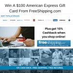 $100 American Express Gift Card Giveaway from FreeShipping.Com