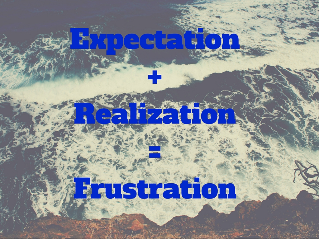 Expectation+Realization=Frustration