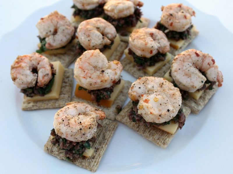 TRISCUIT Easy Grilled Shrimp Appetizer