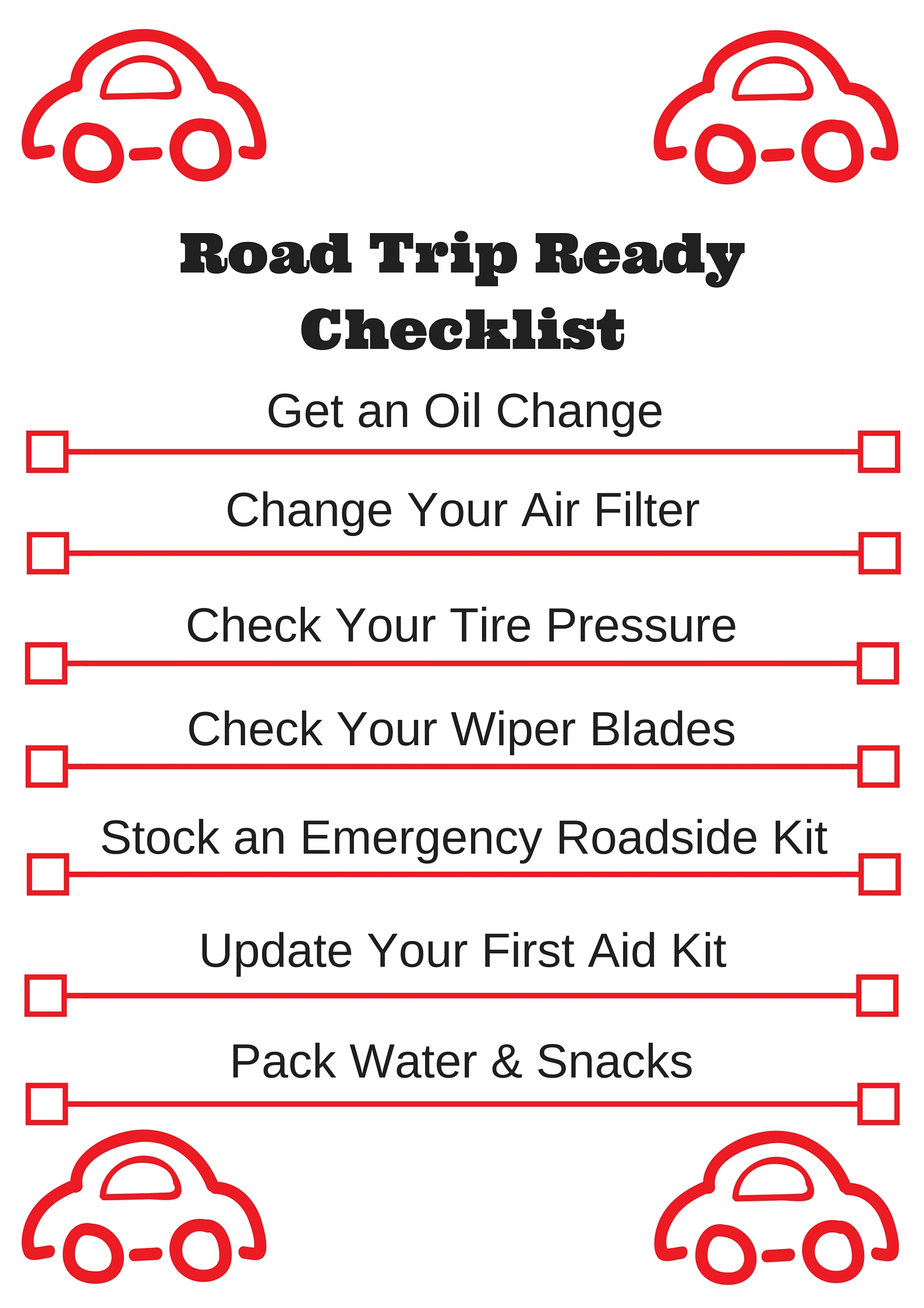 Printable Road Trip Ready
