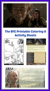 Disney's THE BFG Coloring Sheets