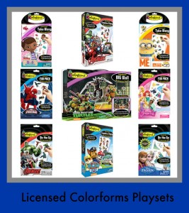 Licensed Colorforms Playsets