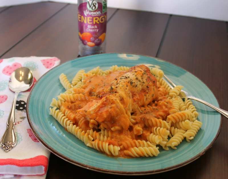Simple Slow Cooker Italian Chicken with Pasta