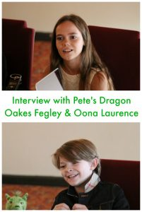Interview with Oakes Fegley & Oona Laurence #PetesDragonEvent