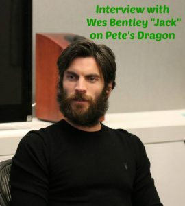 "Interview with Wes Bentley ""Jack"" in Pete's Dragon #PetesDragonEvent"