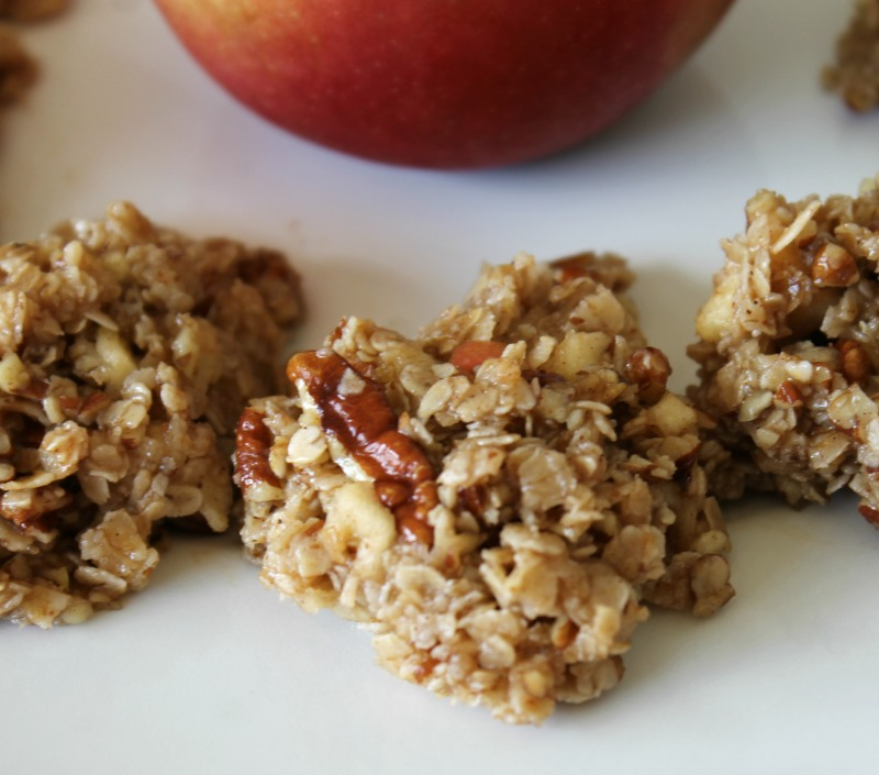 No Bake Oatmeal Apple Pecan Cookies | Finding Sanity in Our Crazy Life