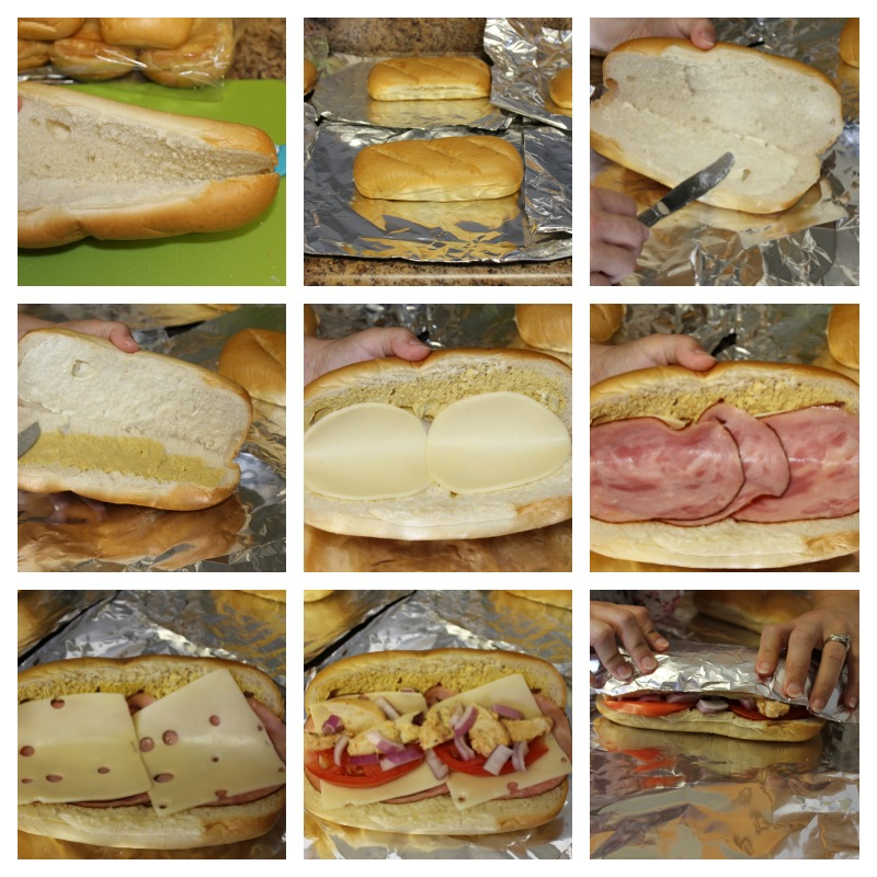Picture Instructions for Baked Chicken Club