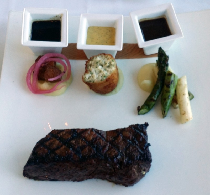 Steak 3 ways Iridescence Restaurant