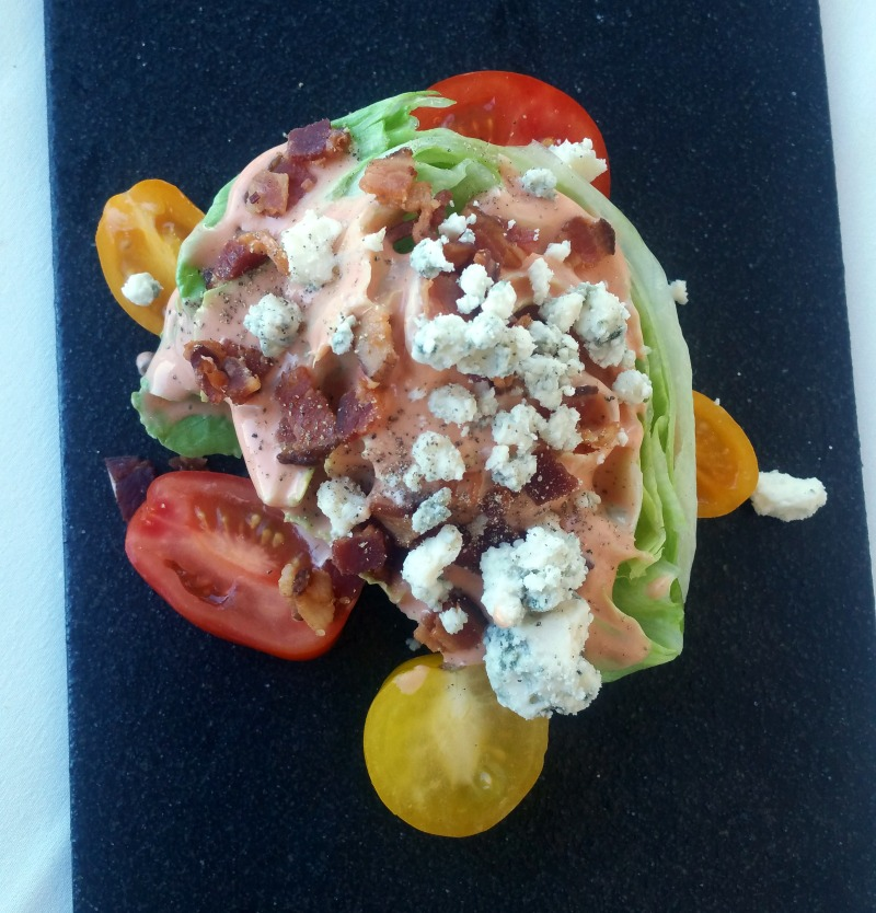 Wedge Salad at Iridescence Restaurant