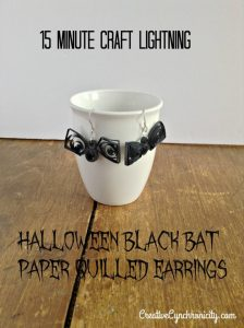Halloween Bat Earrings – 12 Days of Halloween