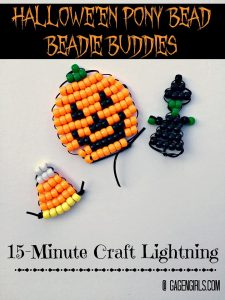 Halloween Pony Bead Beadie Buddies – 12 Days of Halloween