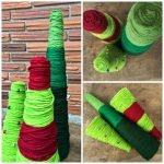 Yarn Wrapped Christmas Trees – #12Daysof Christmas
