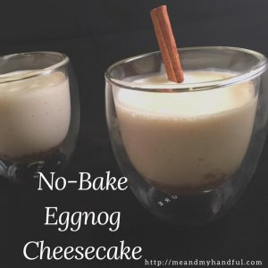 No-Bake Eggnog Cheesecake – #12Daysof Christmas