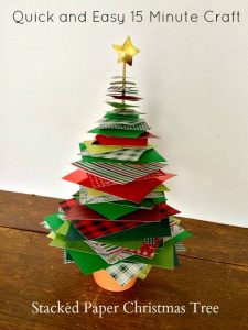 Stacked Paper Christmas Tree – #12Daysof Christmas