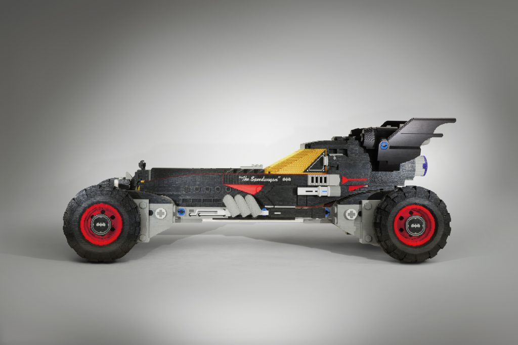 "Built using more than 340,000 LEGO® bricks and measuring 17 feet long, the LEGO® Batmobile from Chevrolet has been designed to strike fear in the heart of any villain. The vehicle is inspired by Batman's Speedwagon featured in ""The LEGO® Batman Movie,"" which hits U.S. theatres on February 10, 2017"