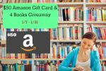 $50 Amazon Gift Card & 4 Books Giveaway – #4Books