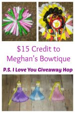 $15 Credit at Meghan's Bowtique in the P.S. I Love You Giveaway Hop – Ends 2/16