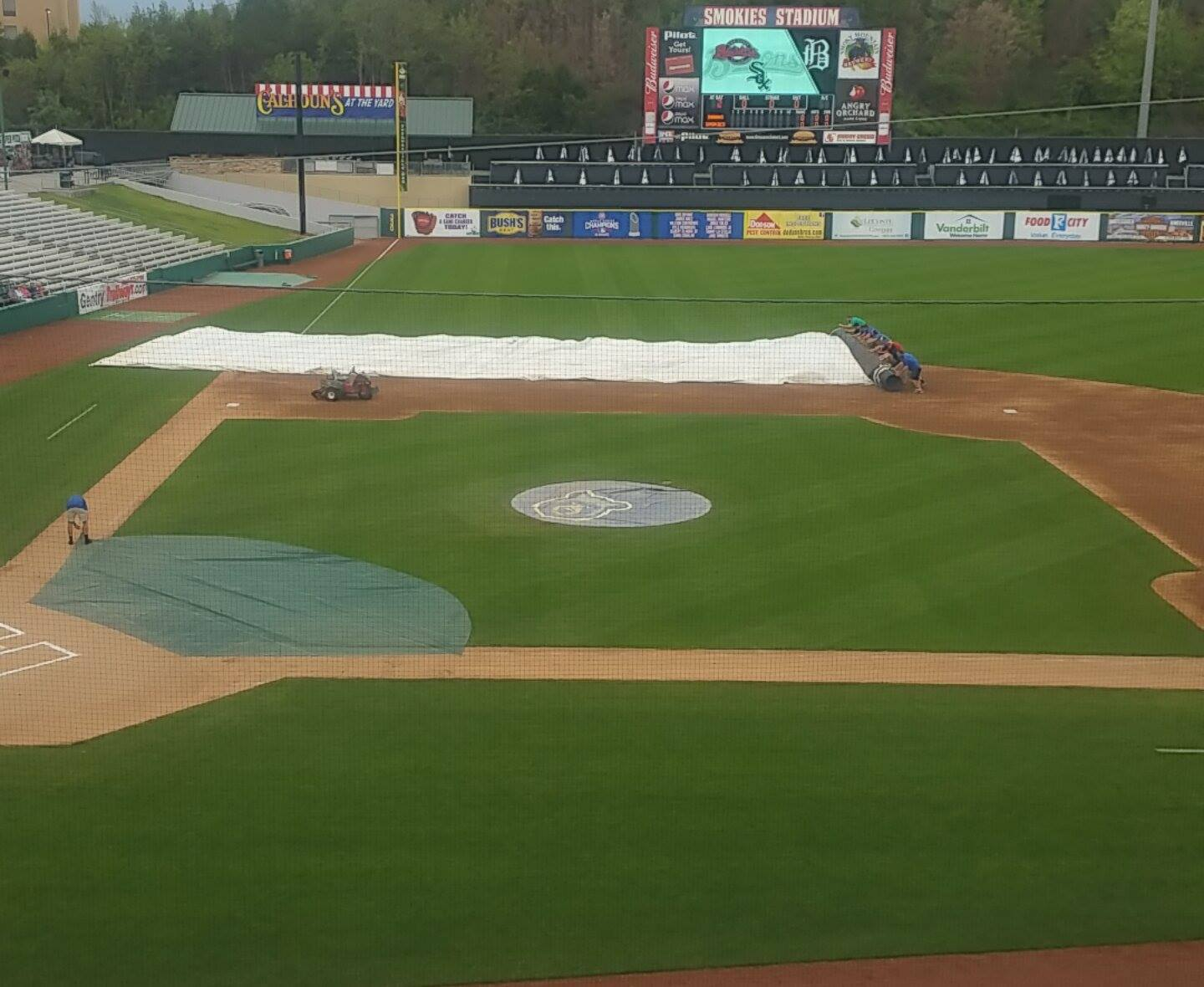 Smokies Stadium Tarp Roll Up
