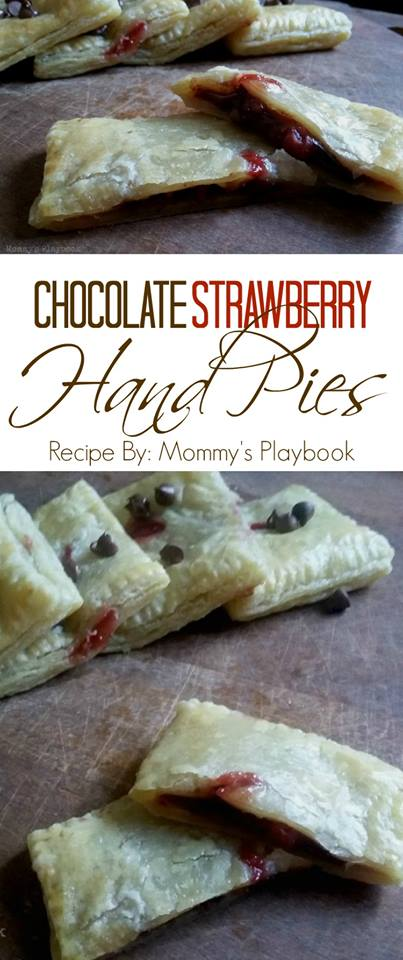 Chocolate Strawberry Hand Pies 1