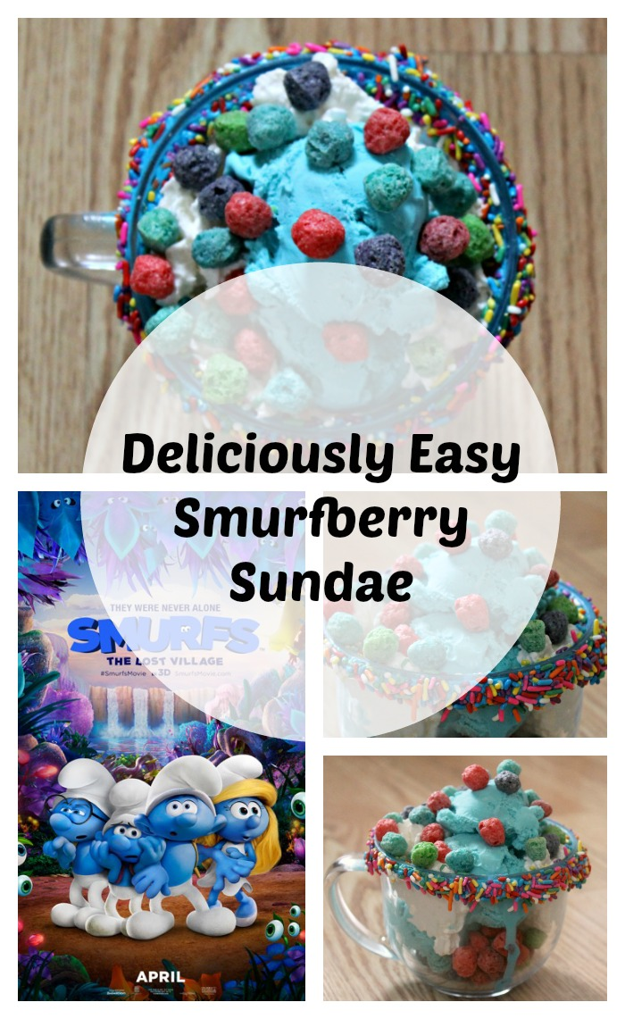 Delicious Smurfberry Sundae