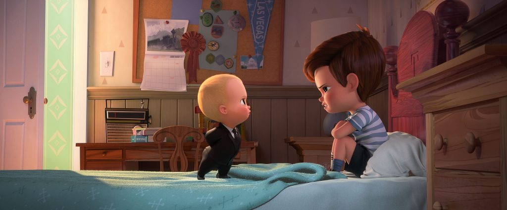 sq1300 sq28 f175: (left-right) Boss Baby (voiced by Alec Baldwin) tries to convince Tim (voiced by Miles Bakshi) that they must cooperate in DreamWorks Animation's THE BOSS BABY. Photo Credit: DreamWorks Animation.