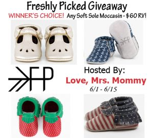 Freshly Picked Moccasin Giveaway