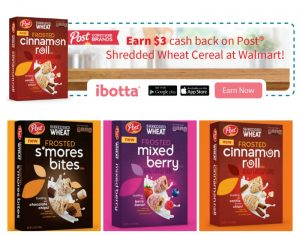 Get Cash Back When You Buy Post Shredded Wheat Cereals