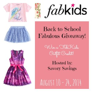 FabKids Back to School Outfit Giveaway