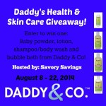 Daddys Health and Skincare Giveaway
