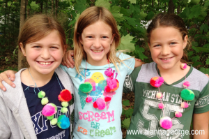 Summer Day Camp pom pom necklace kits