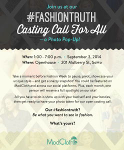 ModCloth Open Casting Call