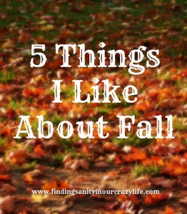 5 Things I Like About Fall