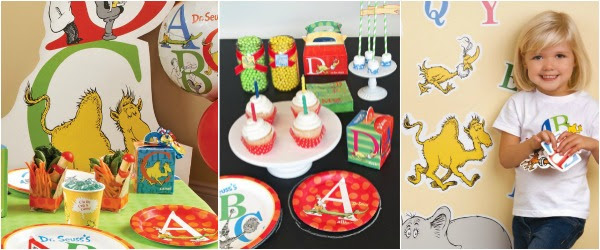 Dr Seuss ABC Birthday Party Theme