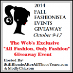 2014 Fall Fashionista Giveaway Announcement